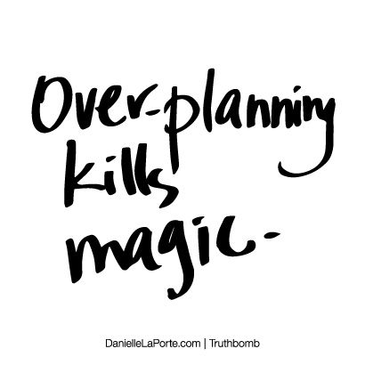 over thinking kills magic