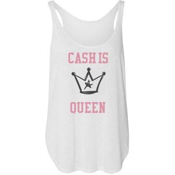 Cash is Queen Tank Top